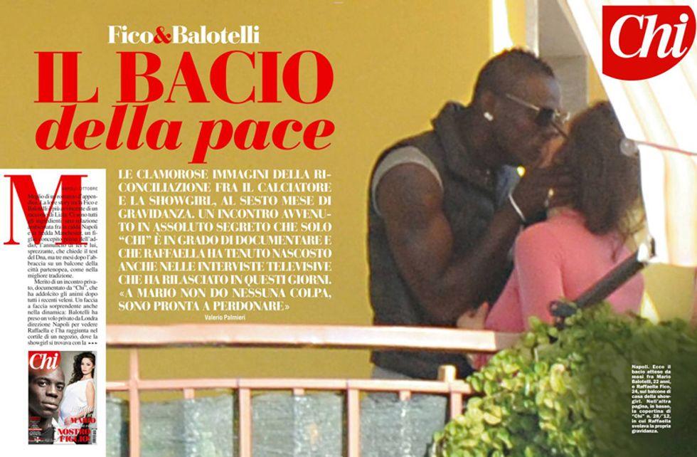 Raffaella Fico e Mario Balotelli, il bacio della pace: l'esclusiva di Chi