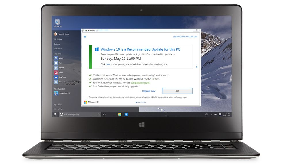 Microsoft: come evitare l'aggiornamento a Windows 10