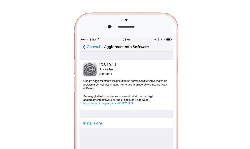 Apple iOS 10.1.1: perché scaricare l'aggiornamento (e perché non farlo)
