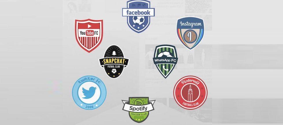 Ecco le divise da calcio di Facebook e Twitter