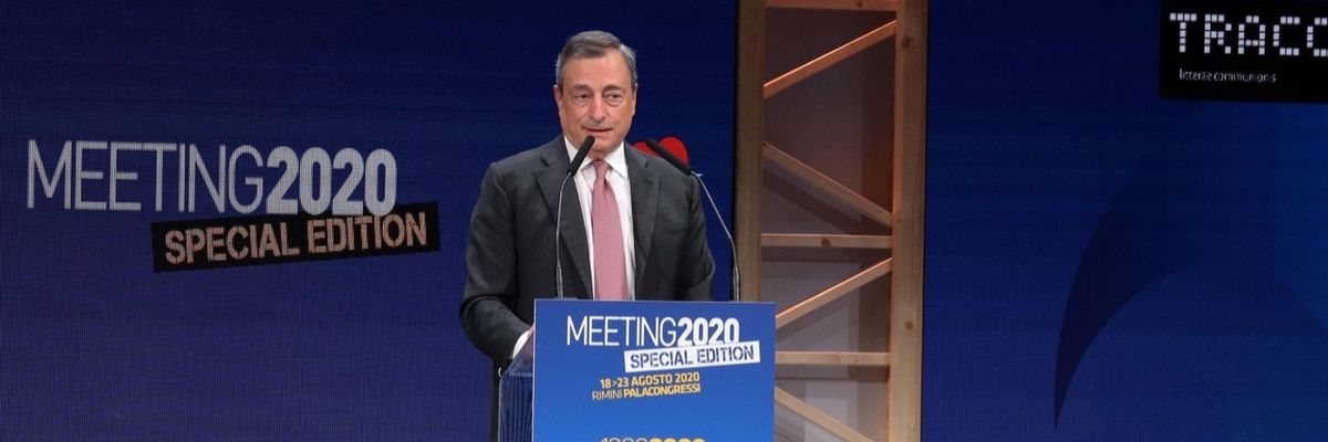 Il discorso di Draghi al Meeting di Rimini sa tanto di Quirinale