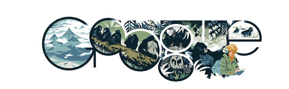 Dian Fossey: un doodle per la signora dei gorilla