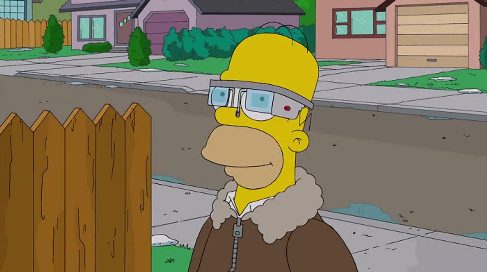 Homer prova i Google Glass