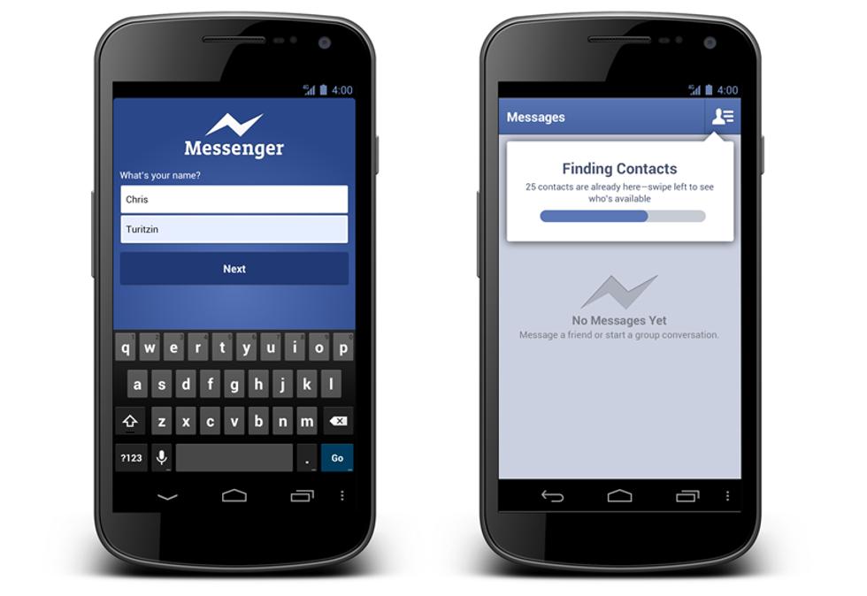 Facebook sfida WhatsApp con il Messenger per Android
