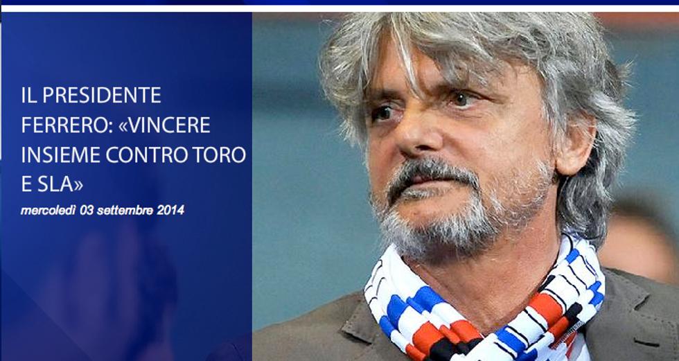 """Ferrero per la SLA: """"Fate tutti come la Samp"""""""