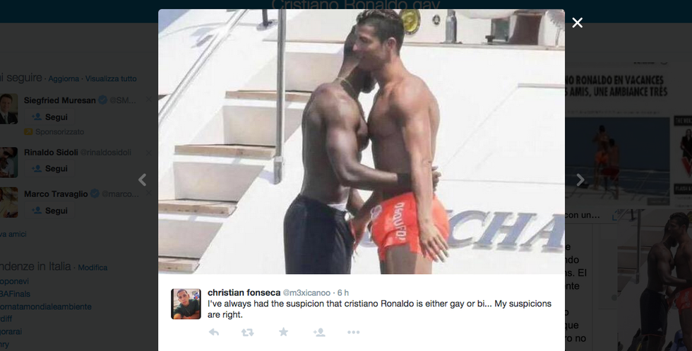 Cristiano Ronaldo, flirt gay a Saint Tropez?