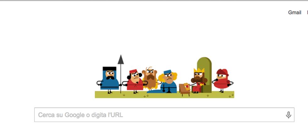Google: un Doodle per gli 800 anni della Magna Charta