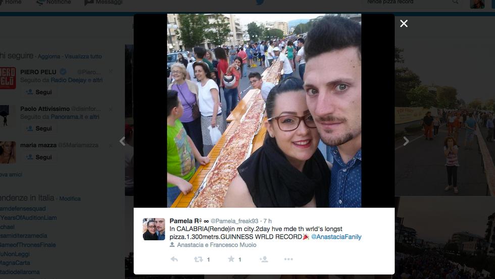 E' calabrese la pizza più lunga del mondo