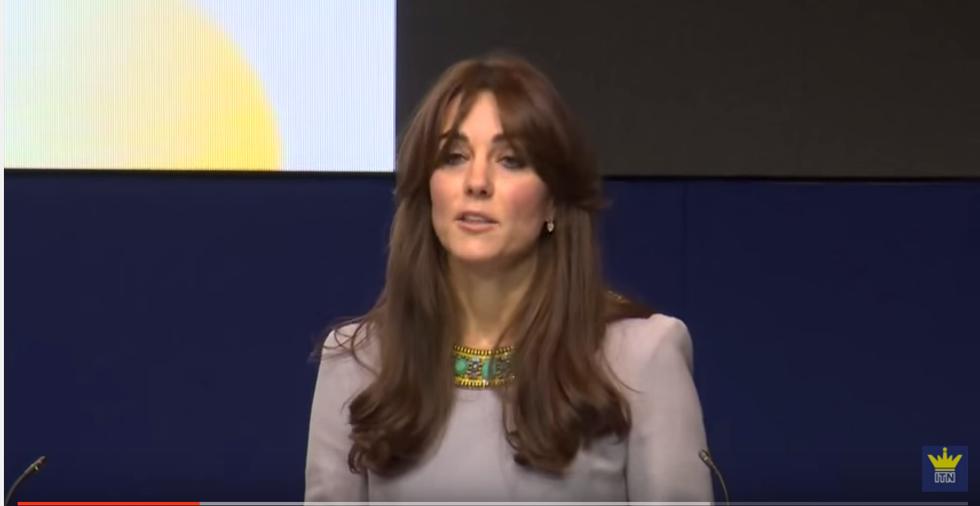 Il primo discorso ufficiale di Kate Middleton