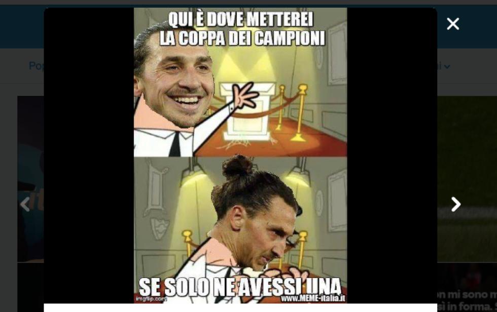 Ibrahimovic dice nuovamente addio alla Champions, l'ironia del web