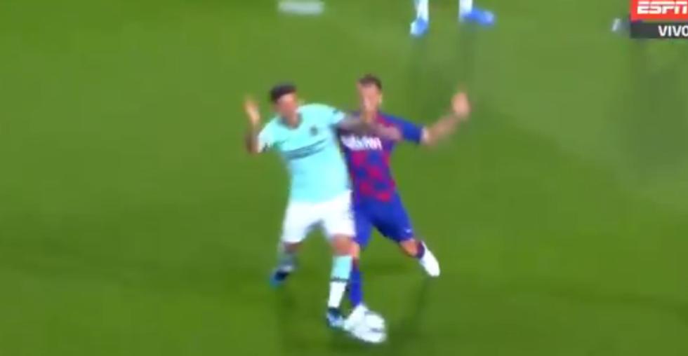 Barcellona-Inter, il rigore negato da Skomina a Sensi I VIDEO