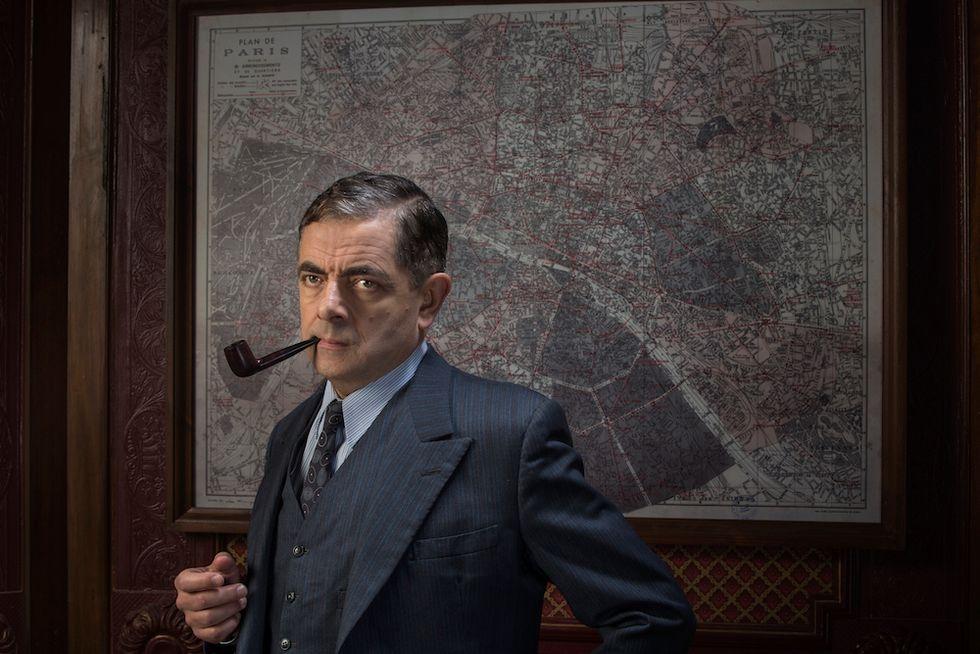 Mr Bean diventa Maigret: foto e video in esclusiva