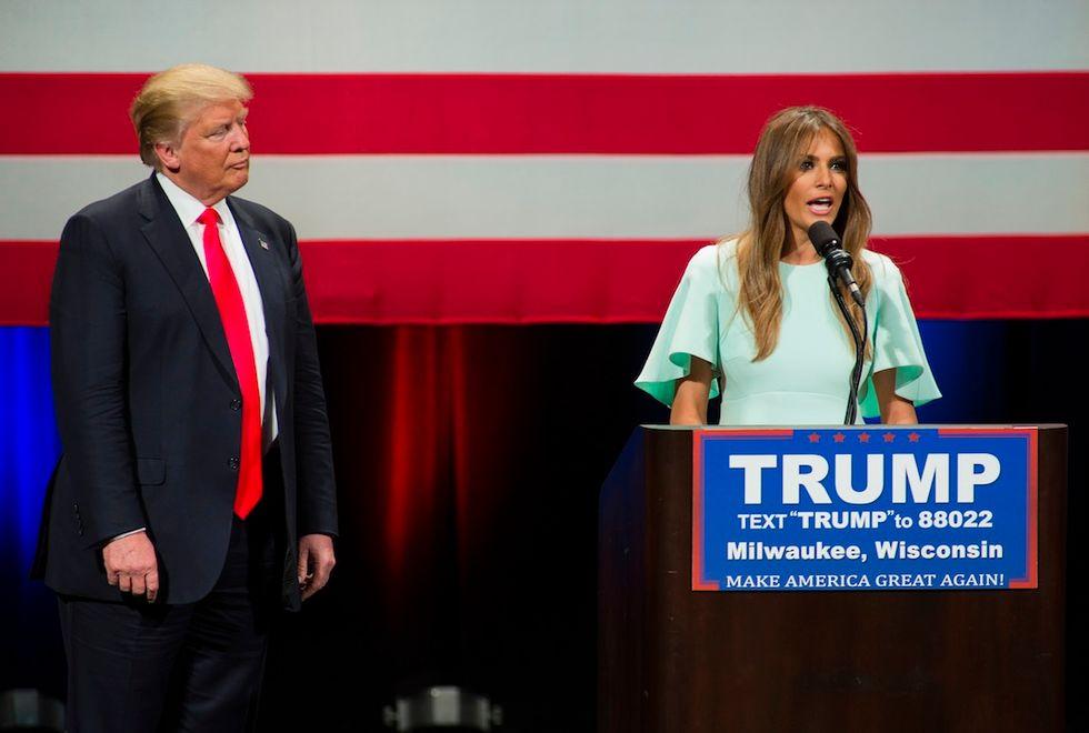 In Wisconsin Melania e Donald Trump