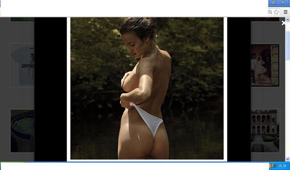 Irina Shayk quasi nuda su Instagram