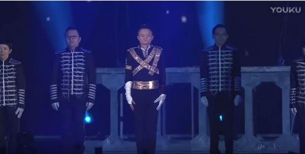 Jack Ma balla Michael Jackson al party annuale