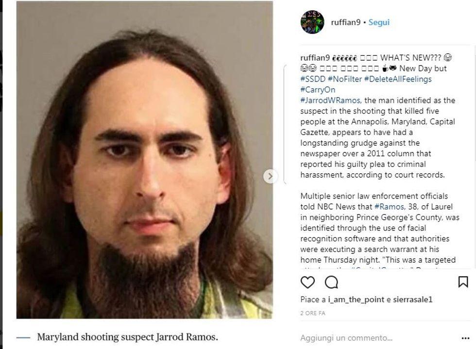 Jarrod W. Ramos, il sospetto attentatore di Annapolis