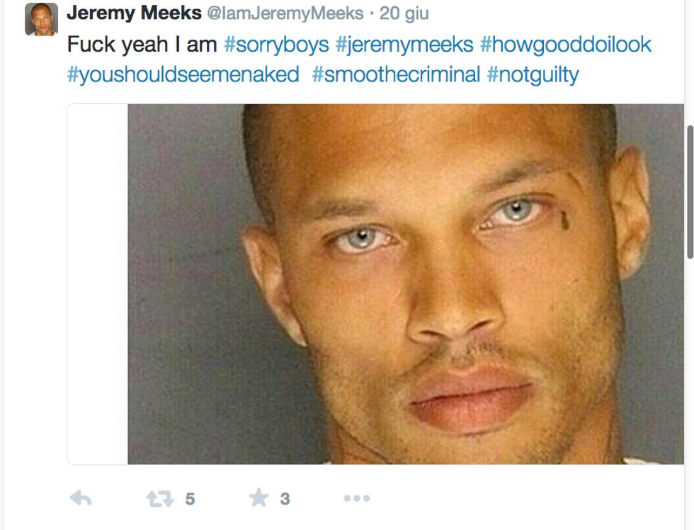 Jeremy Meeks, il bandito che farà il modello