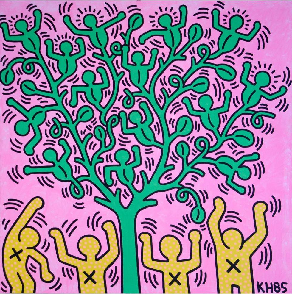 Keith haring - Tree of Life, 1985