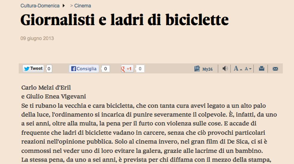 Giornalisti e ladri di biciclette