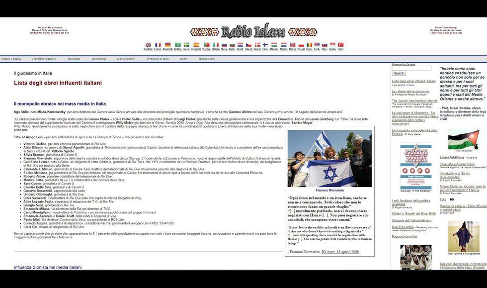 radio islam blacklist ebrei