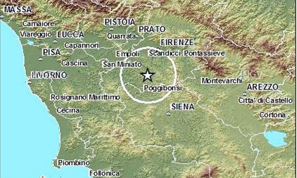 Terremoto in Toscana, paura ma niente danni