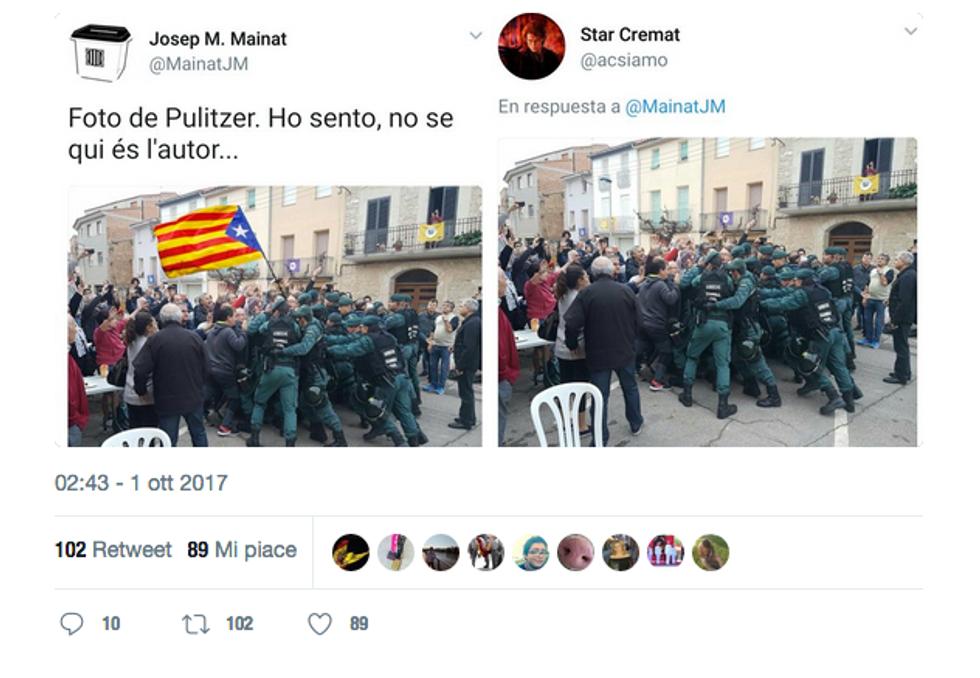 """L'indipendenza della Catalogna e la """"guerra"""" delle immagini"""