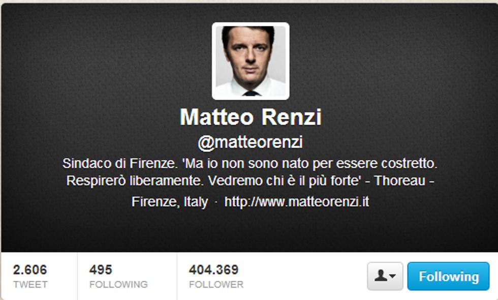 Matteo Renzi è tornato a cinguettare
