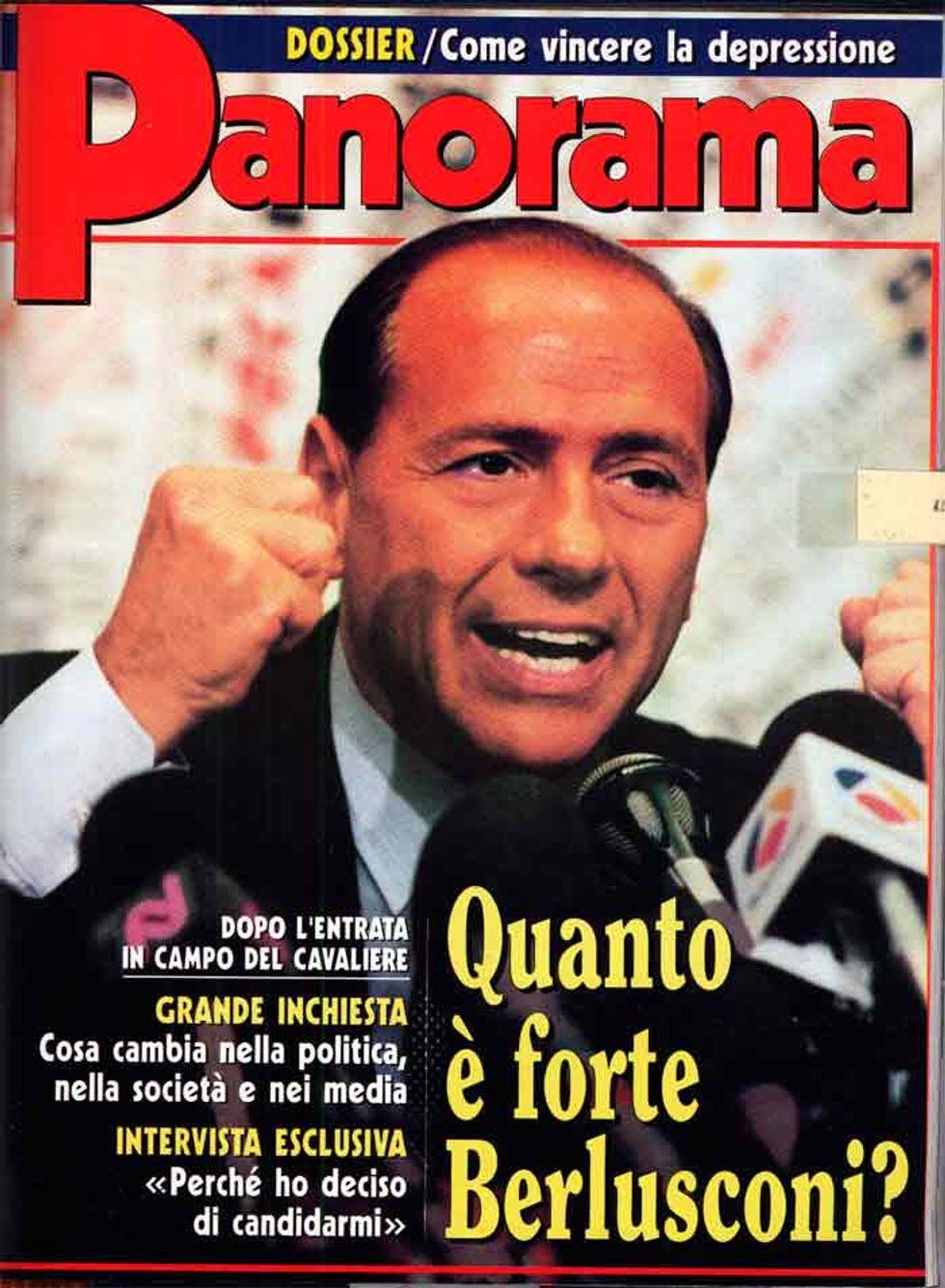 26 gennaio '94. Berlusconi scende in campo. L'articolo di Panorama (di allora)