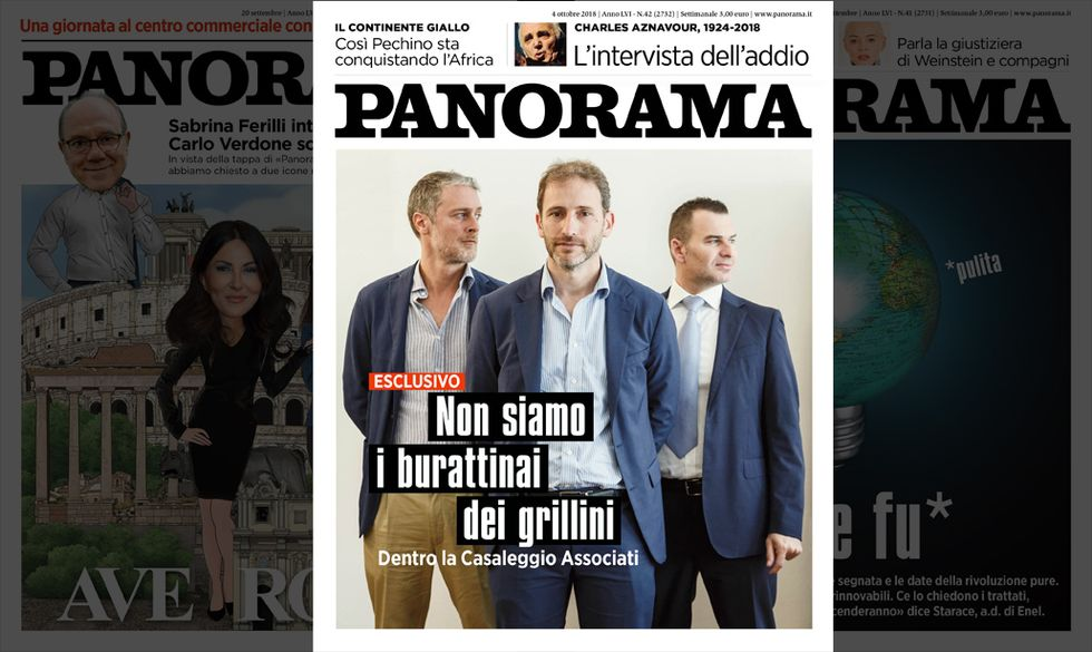 la copertina di Panorama n.42 4 ottobre 2018
