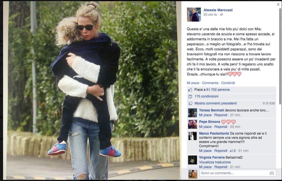 """Alessia Marcuzzi: """"Grazie paparazzo"""""""