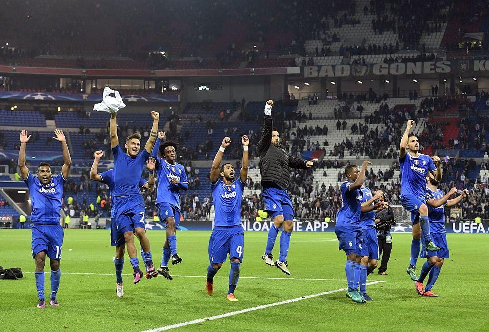 Lione Juventus 0-1 buffon parate cuadrado