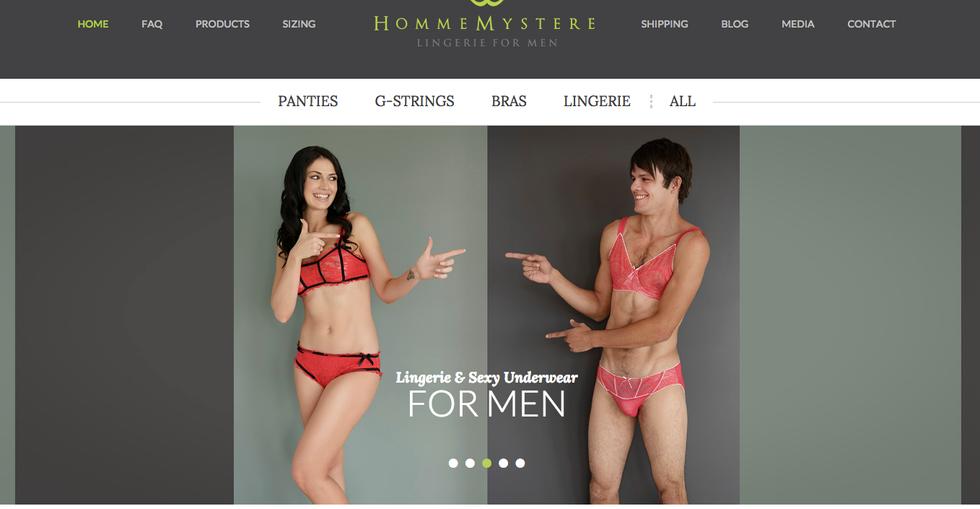 Dall'Australia la sexy lingerie per soli uomini