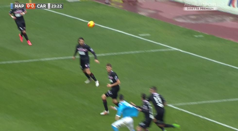 24a giornata, errori arbitrali: Doveri penalizza Callejon in Napoli-Carpi