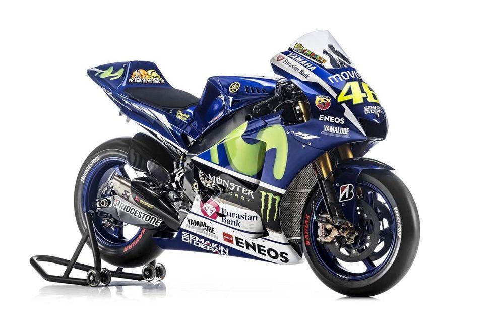 Yamaha: ecco la nuova M1 di Valentino Rossi