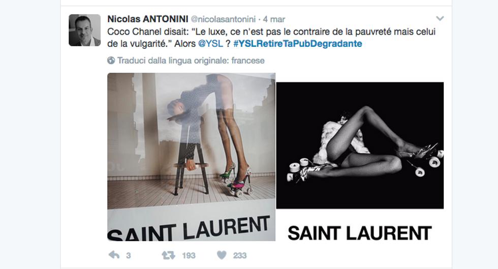 La rivolta social contro Yves Saint Laurent