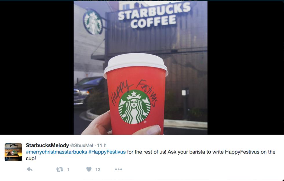 La tazza natalizia di Starbucks