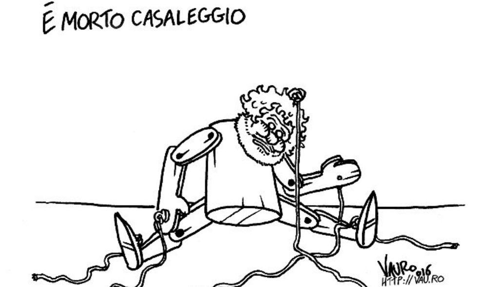 Vauro, la vignetta per la morte di Casaleggio