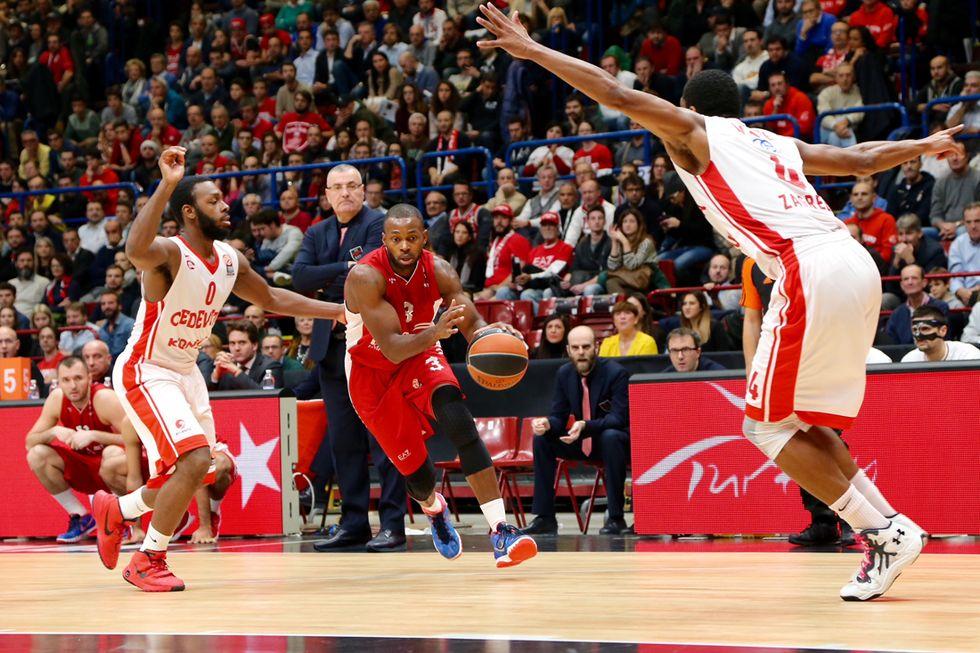 Basket Eurolega: l'EA7 Milano cede anche al Cedevita Zagabria