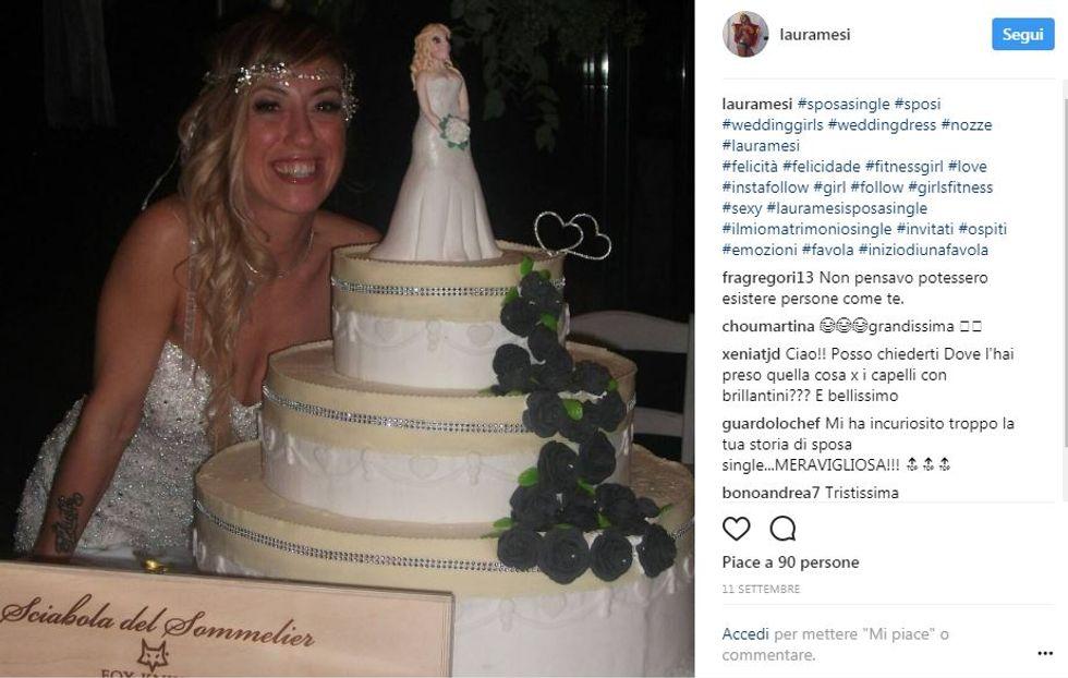 Laura Mesi, la prima sposa single d'Italia