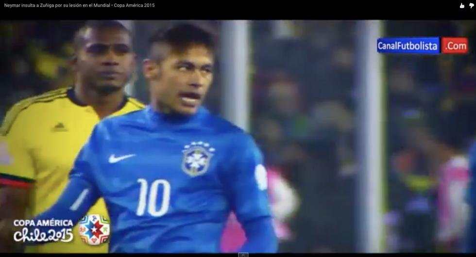 """Scintille Neymar - Zuniga: """"E poi mi chiedi scusa, figlio di..."""""""