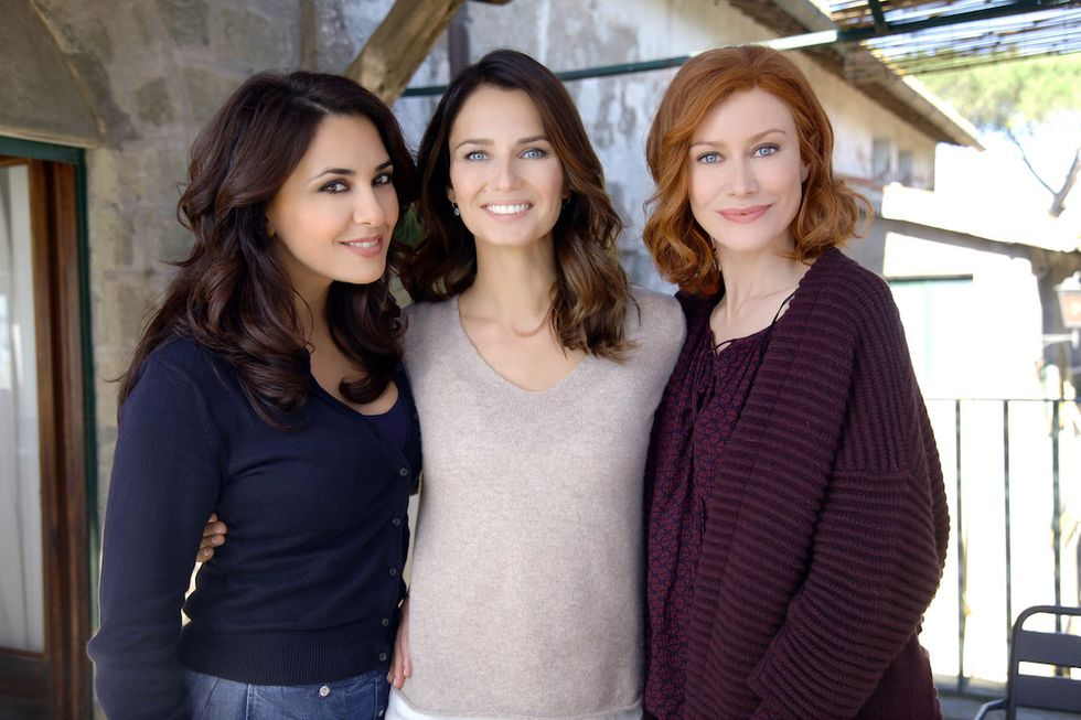 Le tre Rose di Eva 4 Karin Proia (Marzia Taviani), Anna Safroncik (Aurora Taviani) e Giorgia Wurth (Tessa Taviani)