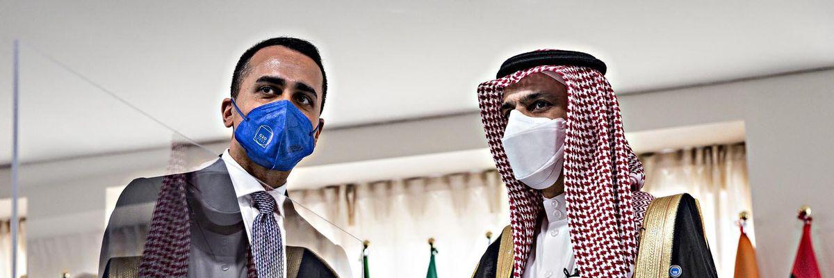 Luigi di Maio Faisal bin Farhan Al Saud