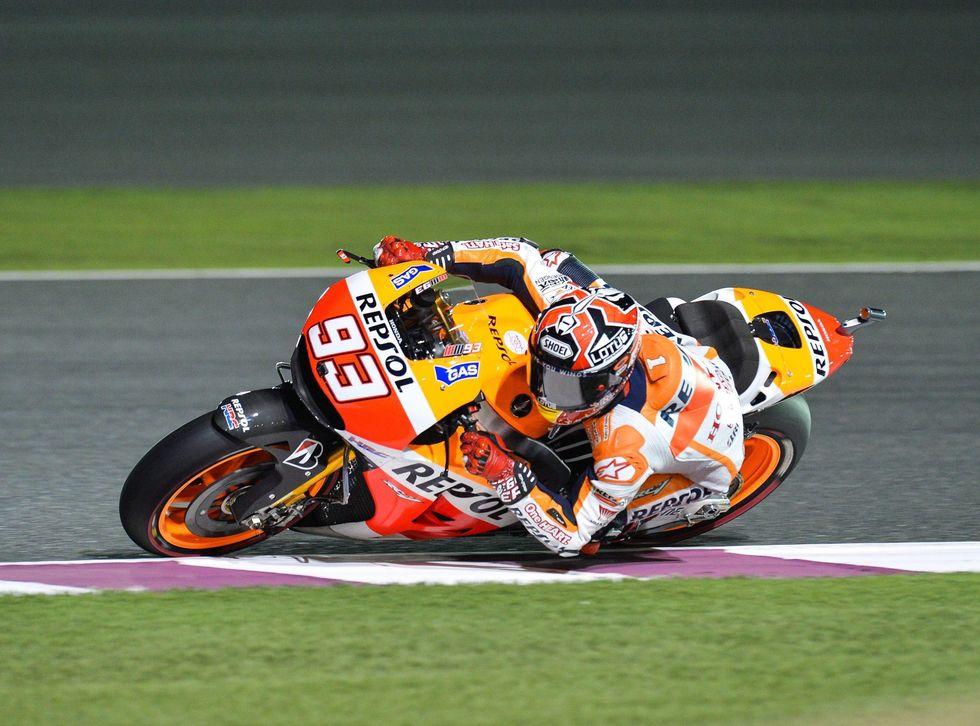 MotoGp: Qatar - vince Marquez, Rossi secondo