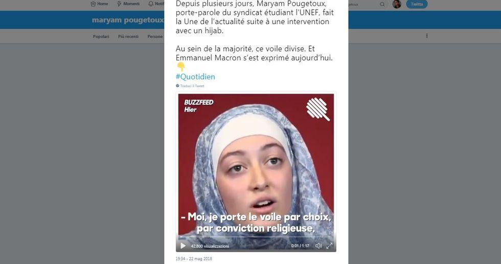 Maryam Pougetoux, la leader della protesta degli studenti francesi