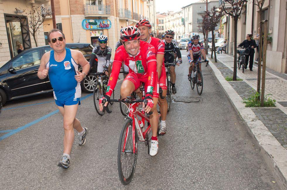 Matteo Marzotto, l'arrivo a Roma del bike tour