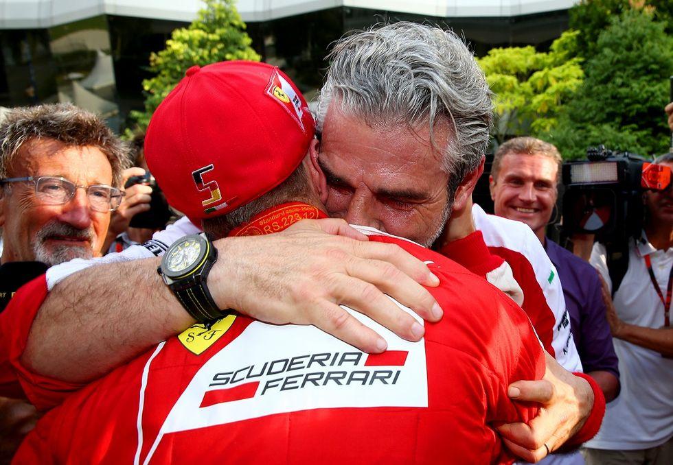 Arrivabene in lacrime per un sms della famiglia Schumacher