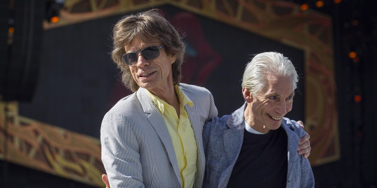 Mick Jagger e Charlie Watts