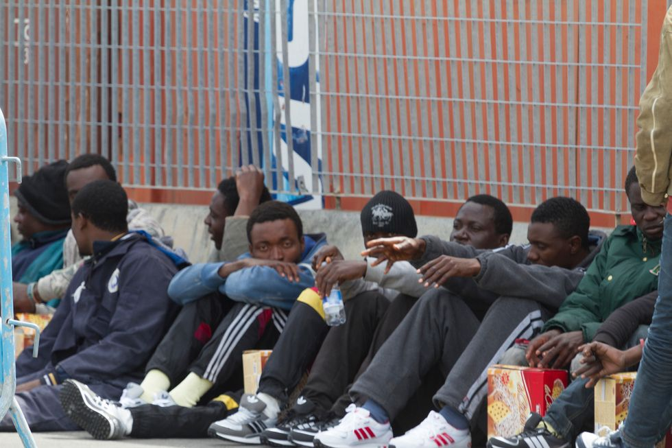 Migranti nel porto di Catania, 2017