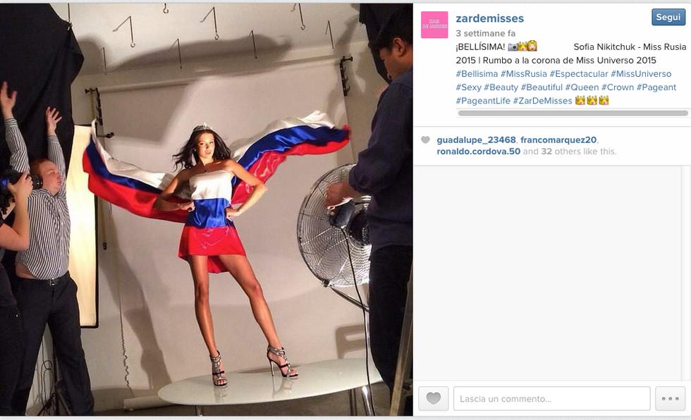 Miss Russia e la foto della discordia