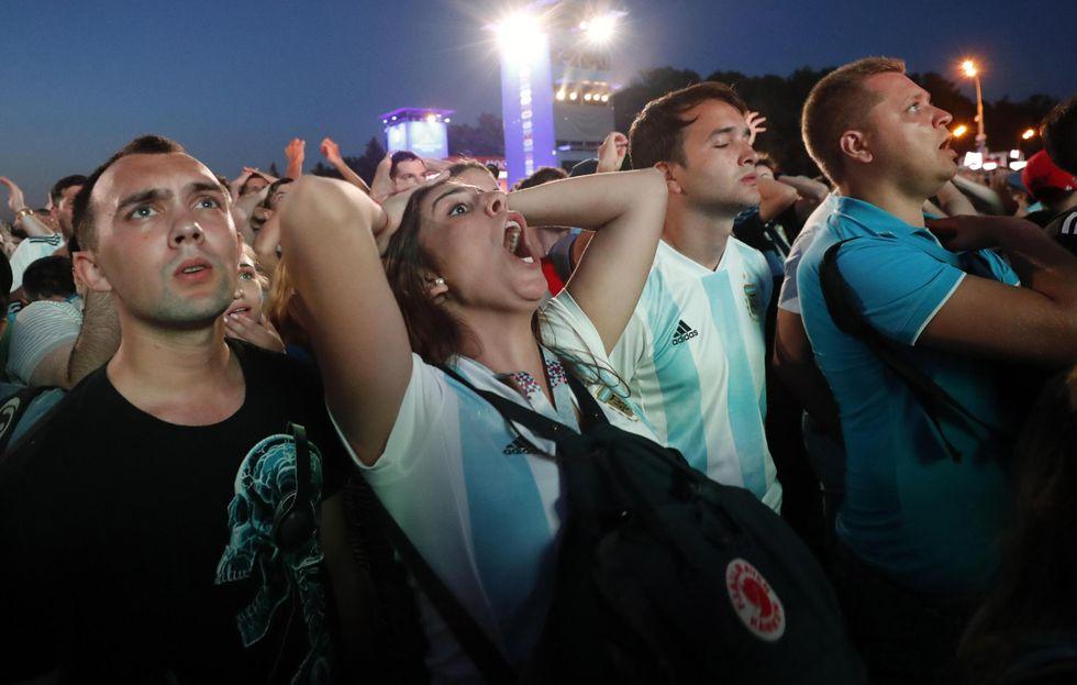 mondiali russia 2018 argentina sconfitta tifosi immagini